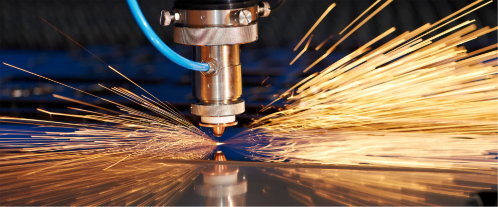 Picture Of Machinery In Use Causing Sparks